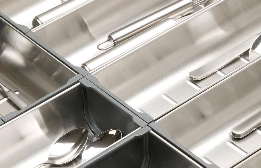 Cucine Oggi - Interiores de cajón - Acero Inoxidable