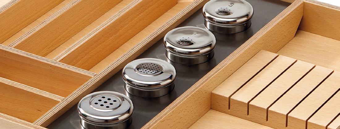 Cucine Oggi - Interiores de cajón - Cuberteros Marinos