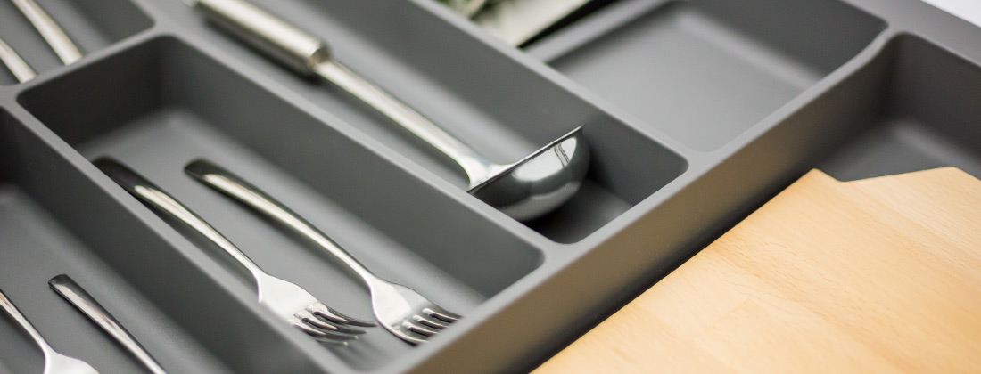 Cucine Oggi - interiores de cajón - Cubertero Supermatt